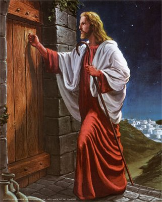 Jesus Said I Stand At The Door And Knock If Any Man Hear My Voice